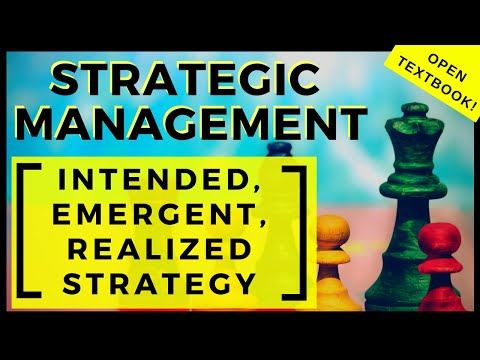 2- Intended, Emergent, and Realized Business Strategies – Strategic Management - Chapter 1  Lesson 2