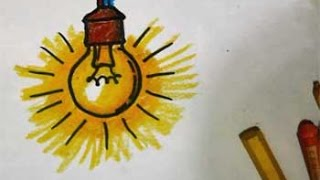 how to draw a light bulb (cara menggambar bola lampu) untuk anak-anak