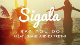 Sigala   Say You Do Official Audio ft  Imani, DJ Fresh