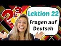 GERMAN LESSON 27 - Asking QUESTIONS in German