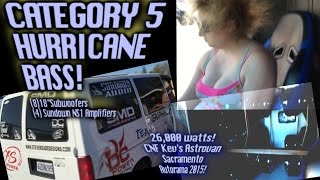 Category 5 Hurricane BASS! - Mega Wind generating sound system - 8 18