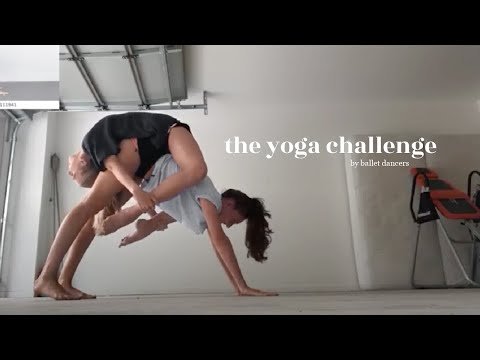 extreme yoga challenge with my best friend! thumbnail