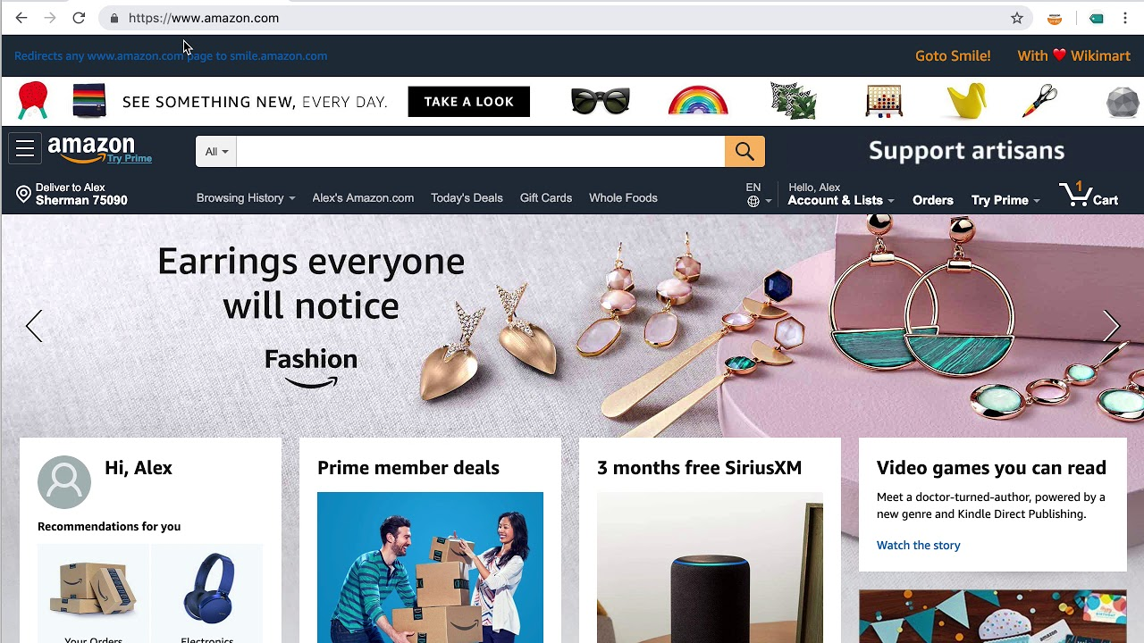 amazon smile chrome extension