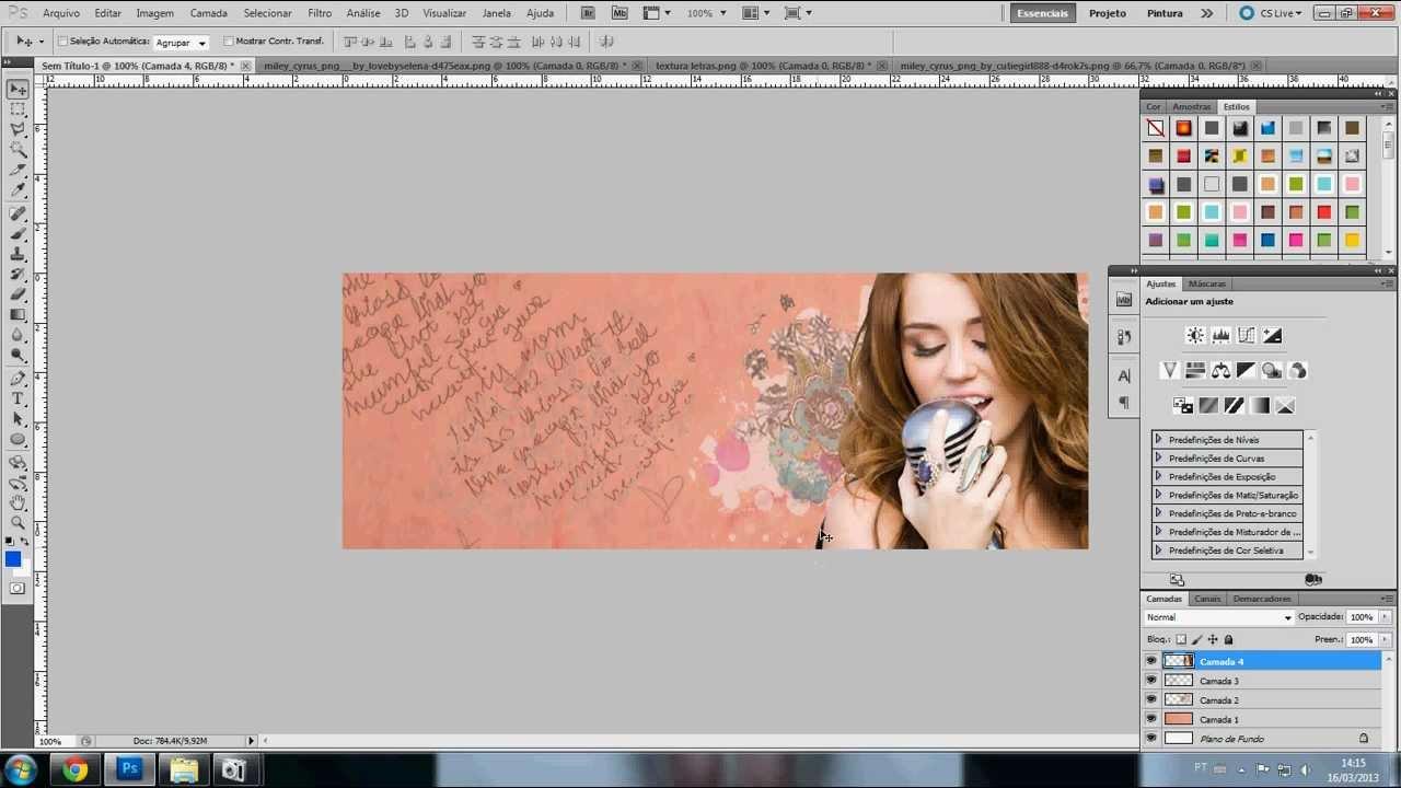 Capa Para Facebook no Photoshop - YouTube