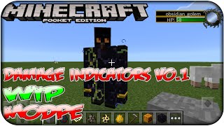 Official - Descarga - Damage indicator V0.1 (WIP) ModPE Minecraft Pocket Edition 0.12.1