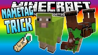 NAMETAG TRICK in MCPE 0.15.0!!! - Rainbow Sheep & MORE - Minecraft PE (Pocket Edition)