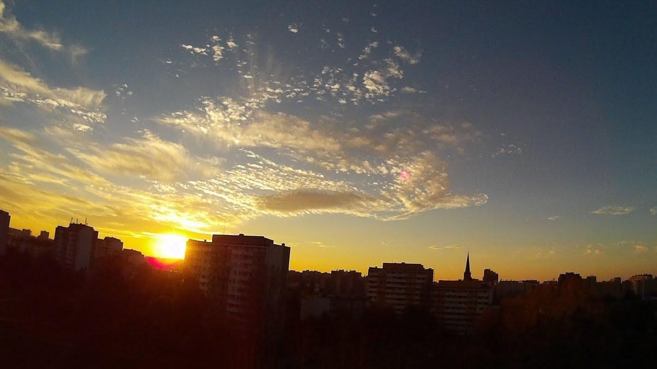 Day To Night Transition Timelapse Wrocław Sj4000 Youtube