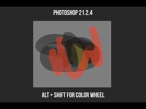 Adobe Photoshop 22.0.1 - Color Wheel Popup HUD not working