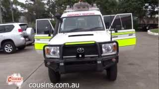 2008 Toyota Landcruiser VDJ78R Workmate Troopcarrier White 5 Speed Manual Ambulance