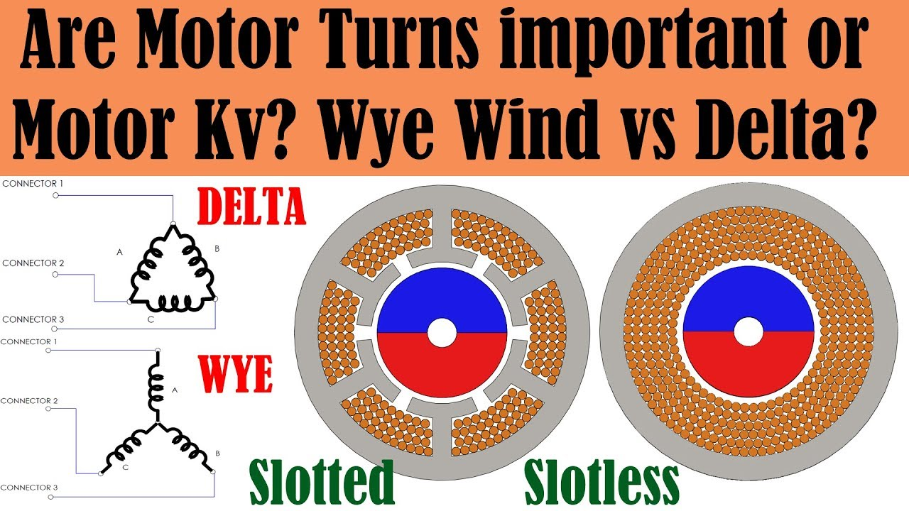 All about RC Brushless Motor Windings -
