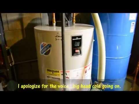 Bradford White 48 Gallon 40,000 BTU Power Vent Water Heater Finally Died