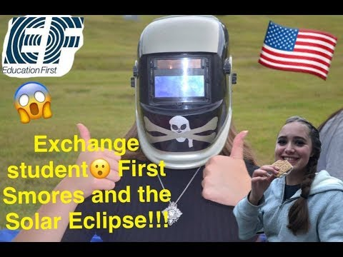 My exchange year Vlog 7: First S`MORES and the Solar Eclipse!