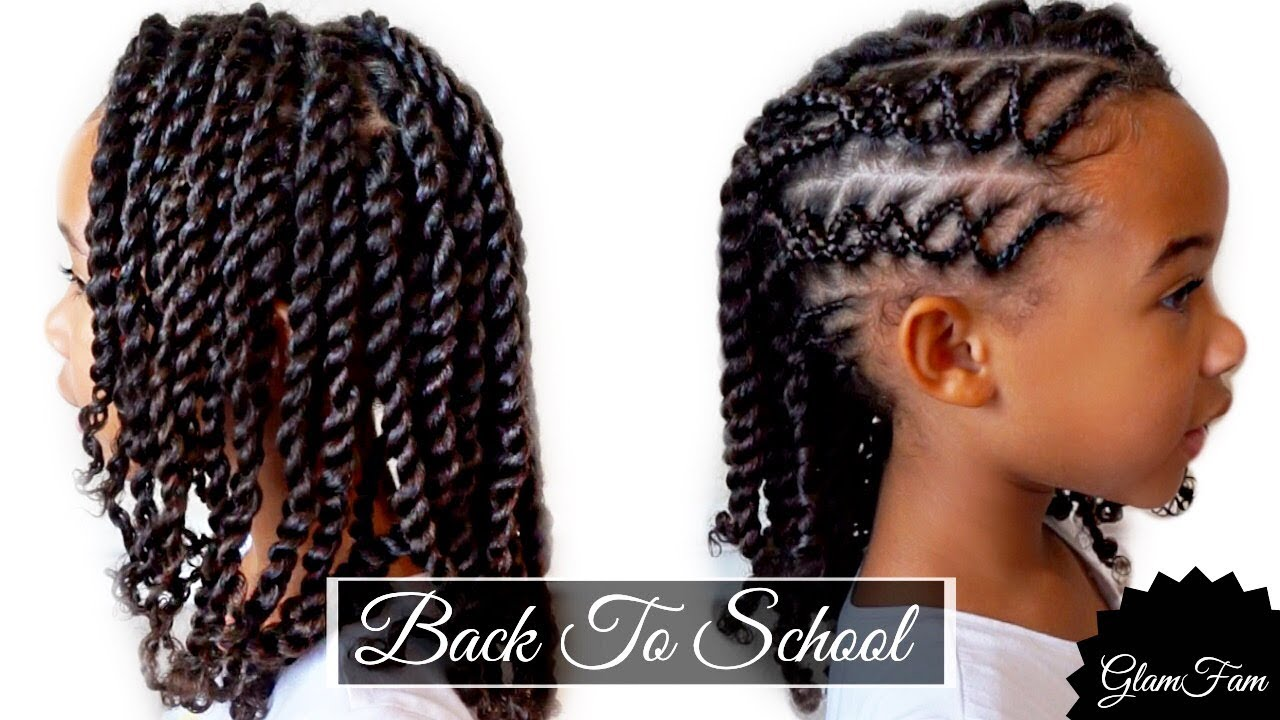 Braided Children\'s hairstyle | Back to school hairstyles - YouTube