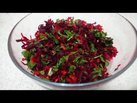 Çiğ Kırmızı Pancar Mezesi Tarifi / Çiğ Kırmızı Pancar Salatası Nasıl Yapılır - Mutfaktaki Öyküler