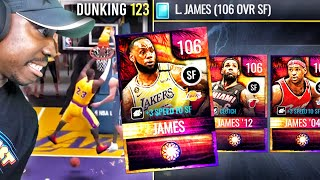 NEW LEBRON JAMES WITH 123 OVR DUNK! NBA Live Mobile 20 Season 4 Pack Opening Gameplay Ep. 74