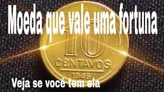 Moeda de 10 centavos de 1946 Vale Muito Dinheiro Catálogo 2020