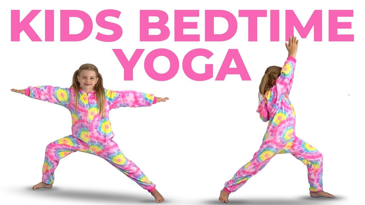 Kids Bedtime Yoga With Animal Yoga Poses (Get sleepy for bedtime!)