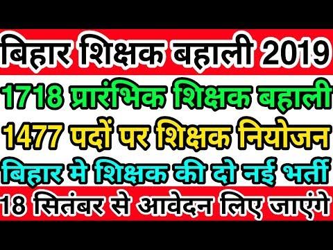 बिहार शिक्षक बहाली 2019 | Bihar STET कोटिवार भर्ती | रोस्टर जारी हुआ | प्राथमिक शिक्षक भर्ती 2019