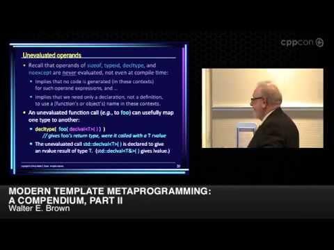 "CppCon 2014: Walter E. Brown ""Modern Template Metaprogramming: A Compendium, Part II"""