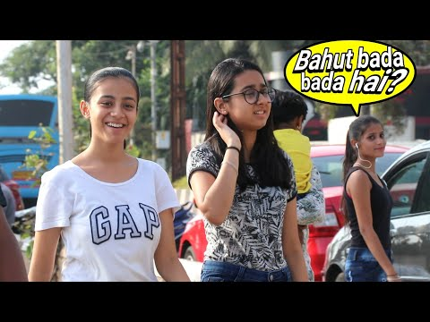 Kitna bada hai | Dheere chal hil raha hai p2 | kiss Degi Prank on Girls | Prank In India | {BRbhai}