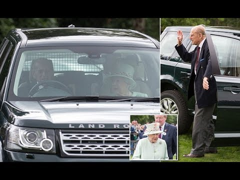 Prince Philip Drives The Queen To See Their Granddaughter Lady Louise Carriage Driving