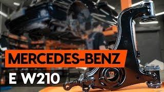 Kaip pakeisti priekinės vikšro valdymo svirtis MERCEDES-BENZ E (W210) [PAMOKA AUTODOC]