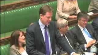 Dennis Skinner v Nick Clegg, DPMQs, 15/11/11