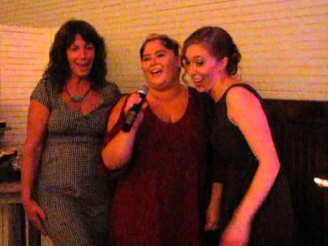 Karaoke during wedding reception!