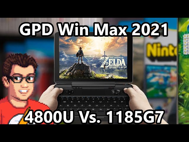 GPD Win Max 2021 - Wii U Emulation CEMU - Breath of the Wild / Super Mario 3D World / Bayonetta 2