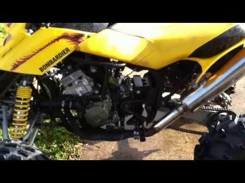 (Engine Start) CBR600 F4i bike engine in Bombardier quad 4 wheeler frame