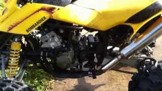 (Engine Start) CBR600 F4i bike engine in Bombardier quad 4 wheeler frame