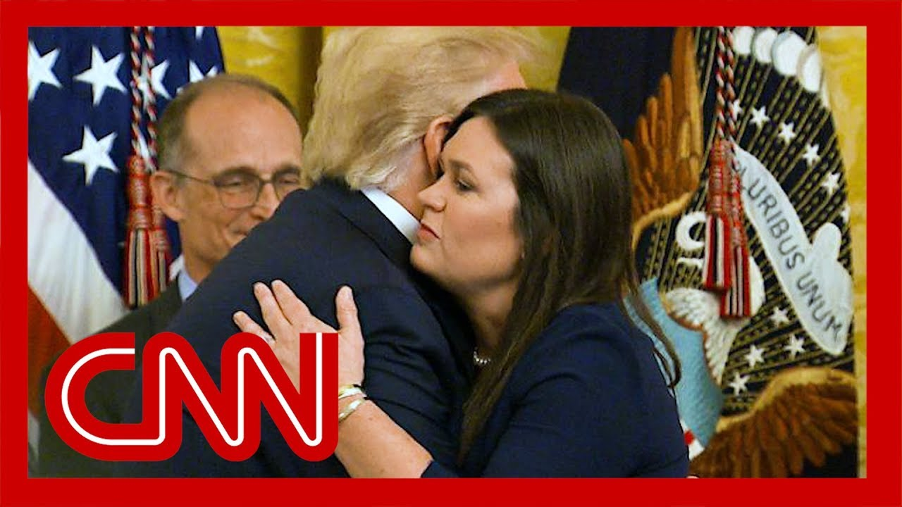 Watch Trump say goodbye to Sarah Sanders