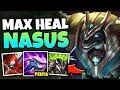 OMG! I GOT A 1V5 PENTAKILL WITH MAX HEAL NASUS! (LEGIT CHEAT CODE) - League of Legends