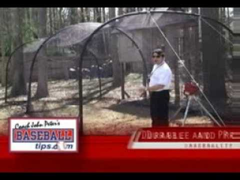 Portable Baseball Softball Backyard Batting Cages YouTube - Backyard batting cages for sale