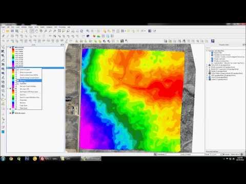 UAV data processing in QGIS
