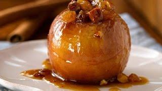 Рецепт.  Яблоки запечёные с мёдом и корицей.