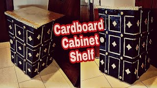 Best Out Of Waste |  Cardboard Furniture |Vintage Safe Cabinet | Storage IDeas: