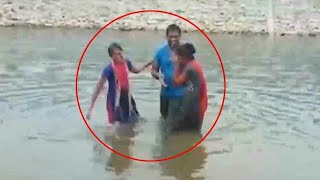 Live selfie death video at bommakur Lake in jangaon district