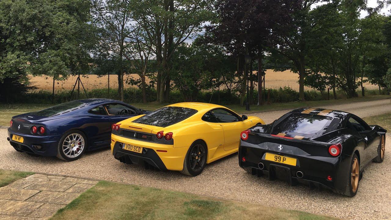 Ferrari 360 Cs Vs 430 Scuderia Vs 458 Speciale Road Test Featuring Mr Jww Youtube