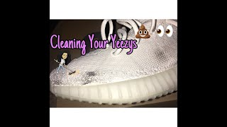How to Clean All White Yeezy 350 v2 at Home! | DaniByDemand