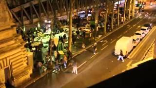 Attaque violente entre migrants Métro Stalingrad 14 avril 2016 Paris 10è