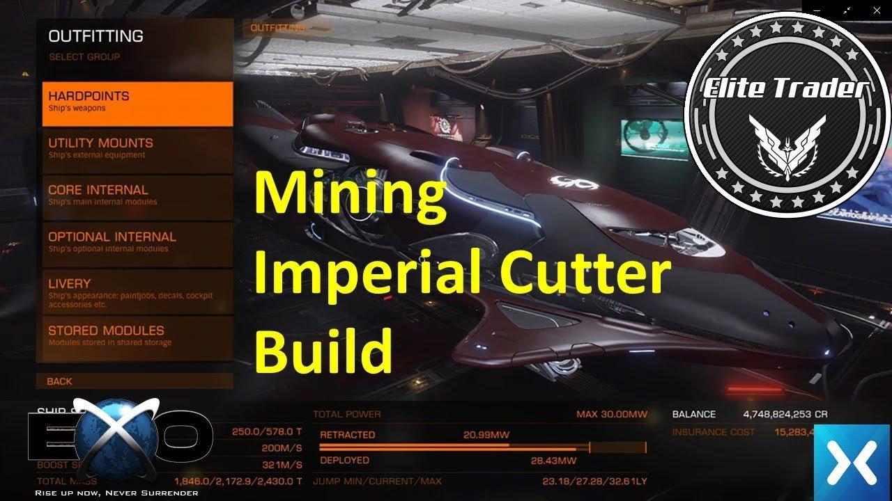 elite dangerous imperial cutter mining build