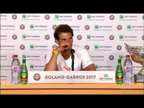 Rafael Nadal Press conference / FINAL RG 2017
