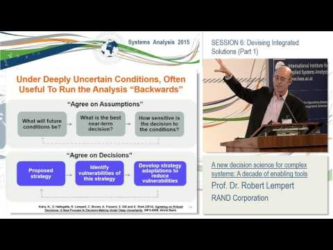 Session 6. Robert Lempert: A new decision science for complex systems