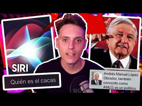 SIRI le dice EL CACAS a AMLO (Presidente de Mexico)-Wefere NEWS