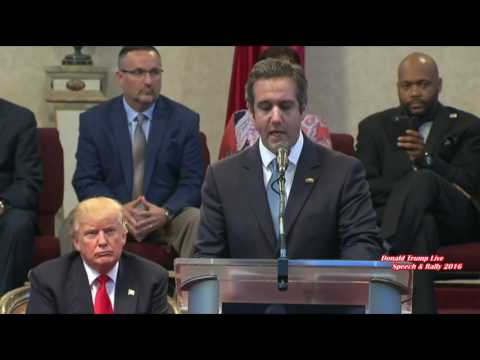 Michael Cohen - Michael Cohen Gives A Massive Speech In Support Of Donald Trump In Cleveland Heights