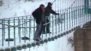 Самоубийцы Воробьев и Стычкин прыгают с моста