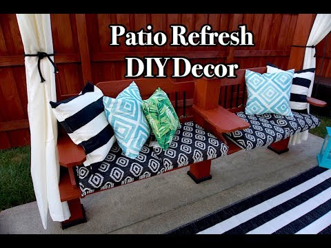 Outdoor Patio Refresh | DIY Decor