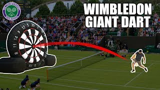 WIMBLEDON Giant Tennis-Dart Competition | SweetSpotSquad