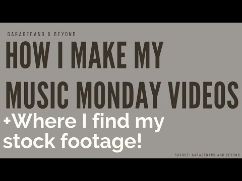 How I Make My Monday Music Videos!